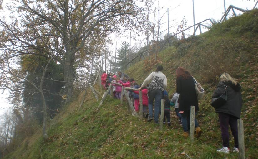 I bambini della Scuola dell'infanzia Monini di Umbertide in visita a Preggio