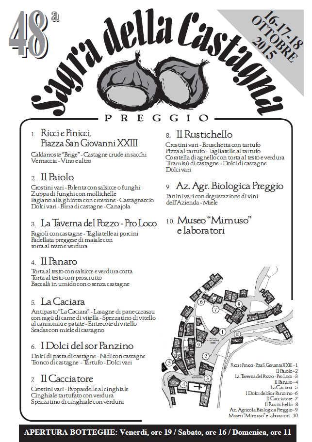Preggio - Sagra della Castagna 2015